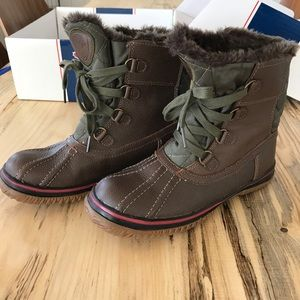Brown Leather Pajar Snowboots Size 8